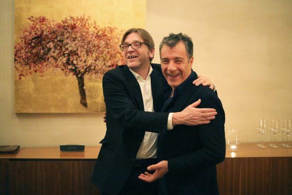 Με τον Guy Verhofstadt