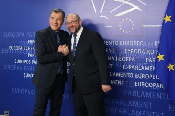 Με τον Martin Schulz