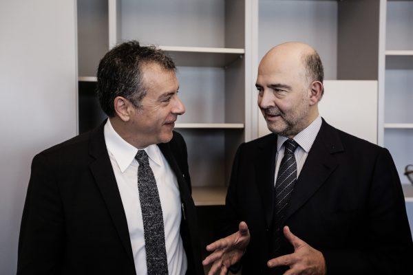 Με τον Pierre Moscovici